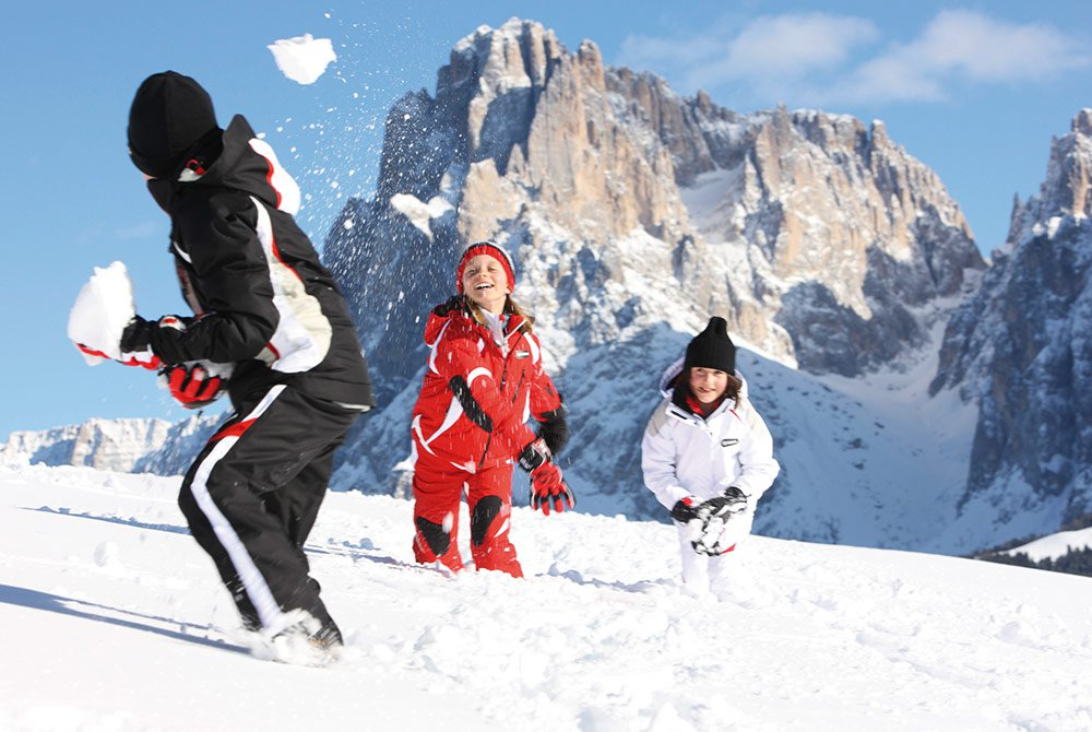 A perfect skiing paradise for children